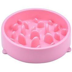 "Carlie Diameter 8.1"", height 1.9"" Silicone Slow Feed Dog Bowl - Interesting Training Feeder - The Weight loss Pet Bowl to Slow Down Fast Eaters (Pink) ~ You could get more details by clicking on the image. (This is an affiliate link and I receive a commission for the sales)"