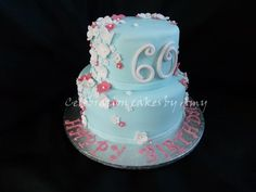 Ladies 60th birthday cake - Would like to thank fellow cake central member jsouth82 for the inspiration of this cake! x