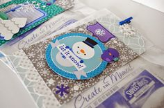 Hot cocoa gift pack by Wendy Sue Anderson from Doodlebug Design using the new Frosty Friends collection - see ALL four designs here www.pinterest.com... - the tags are so cute, fun securing them in place with the mini clothespins too
