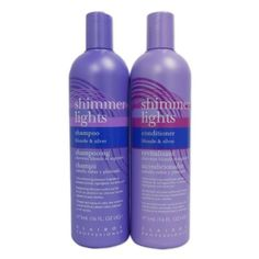 The Ten Best Shampoos For Blonde Hair // #10 Clairol Shimmer Lights Shampoo + 16 oz. Conditioner