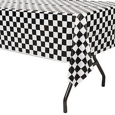 Our Black and White Check Plastic Table Cover are a fantastic accessory to any race day or fifties party.