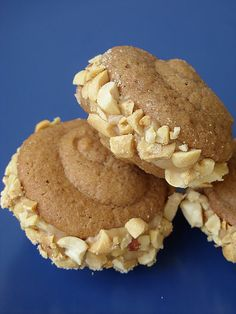 Salted Caramel Apple Whoopie Pies from here http://www.meettheshannons.net/2011/10/salted-caramel-apple-whoopie-pies.html #veganmofo