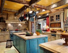 Rustic French style kitchen