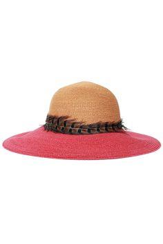 Eugenia Kim  Соломенная шляпа с пером