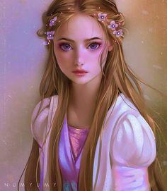 Disney Princess Rapunzel by Numyumy