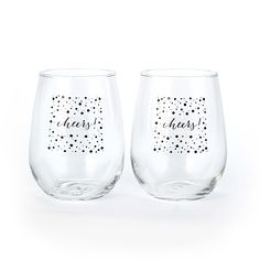 Cheers! - Stemless Wine Glass Set available through my online store www.JaniceBlackmonEvents.CarlsonCraft.com