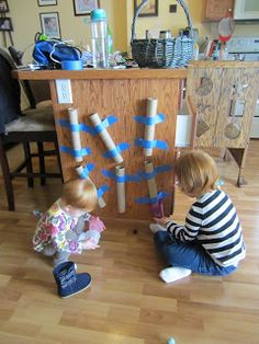 Kid Activities: Tubes and Poms