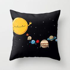 Planets Throw Pillow by awkwardyeti - $20.00