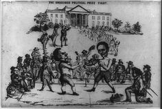 """""""The Undecided Political Prize Fight,"""" a lithograph depicting the presidential campaign of 1860 and featuring Abraham Lincoln and Stephen A. American Civil War, American History, American Presidents, Trump Clinton, John Bell, Confederate States Of America, Live Animals, Cnn Politics, Fight Night"""
