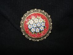 Vintage Italy Micro Mosaic Brooch  Bouquet by PastPossessionsOnly, $59.95