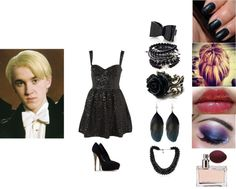 """""""Yule Ball With Draco Malfoy"""" by iloveharrystyles877 ❤ liked on Polyvore Draco Malfoy Costume, Slytherin House, Yule Ball, 2ne1, Harry Potter, Dress Up, Costumes, Polyvore, Outfits"""