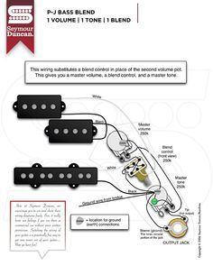 PBass wiring diagram DIY in 2019 Fender p bass