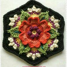 Transcendent Crochet a Solid Granny Square Ideas. Inconceivable Crochet a Solid Granny Square Ideas. Motifs Granny Square, Granny Square Crochet Pattern, Crochet Blocks, Crochet Flower Patterns, Crochet Squares, Crochet Flowers, Granny Squares, Flower Granny Square, Crochet Designs
