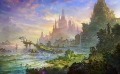 Image result for sunrays in concept art