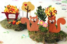 Cute little centerpiece ideas or babyshower decorations for woodland baby shower theme