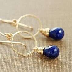 Love the gold paired with lazuli