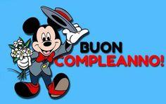 Immagini di Buon Compleanno: auguri divertenti per WhatsApp con torte e frasi per amici e amore Happy Party, Mickey Mouse, Disney Characters, Fictional Characters, Cartoon, Cards, Gif, Facebook, Smartphone