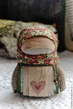 Hand made doll using fabric scraps
