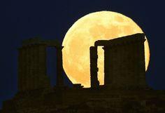 Super-moon 2013   Greece