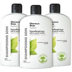 L'Arbre Vert Shampooing Soin Purifiant Cheveux Gras 400 ml – Lot de 3: Contient des extraits d'orties reconnus pour réguler l'excès de…