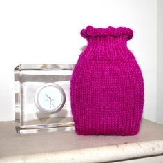 woolly vase from tickled pink crafts - so cute!