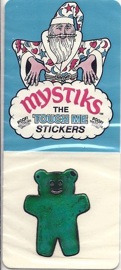 Vintage 80's Mystik's Oilies Teddy Bear Sticker NIP