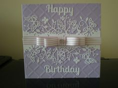 Birthday card for my friend using memory box border die