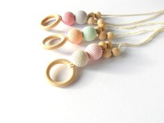 Pastel Colors Nursing Necklace - Newborn Girl Teething Toy - New Dad and Mom Gift on Etsy, $13.99