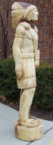 5 ft Cigar Store Indian Carved Wood Art---there's a place right outside Woodland Park, Colorado, that sells these.