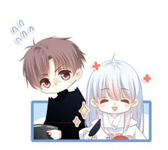 😚😚😚 Couple Illustration, Love Never Fails, Fairy Art, Anime Love, Manhwa, Chibi, Comics, Couples, Painting