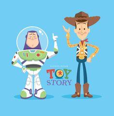 by artist? ||| Buzz Lightyear, Woody, Toy Story, 2, 3, Disney, Pixar