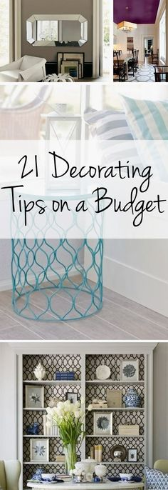 Decorating tips, budget decorating, frugal home interior design, interior… Home Staging, Easy Home Decor, Cheap Home Decor, Inexpensive Home Decor, Style At Home, Shabby Chic Vintage, Appartement Design, Design Apartment, Apartment Interior