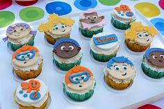 Bubble Guppies 2nd Birthday Party - cupcake toppers - get our FREE party printables on the blog now!