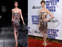 Anne Hathaway In Nina Ricci - Museum Of Moving Image Salutes Hugh Jackman