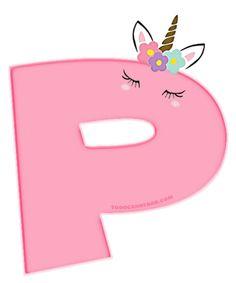 Alfabeto de Unicornios Letras para Descargar Gratis | Todo Candy Bar Happy Birthday Banner Printable, Birthday Letters, Printable Banner, Happy Birthday Banners, Colorful Birthday Party, Unicorn Birthday Parties, Unicorn Party, Polka Dot Letters, Pink Glitter Wallpaper
