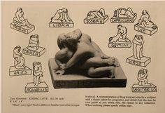 Advertisement for Tom Otterness',Zodiac Loveseries.