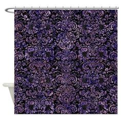 Shop BLACK MARBLE & PURPLE MARBL Shower Curtain designed by Trendi Patterns. Lots of different size and color combinations to choose from. Black Shower Curtains, Custom Shower Curtains, Bathroom Shower Curtains, Fabric Shower Curtains, Dark Purple Bathroom, Purple Bathrooms, Gold Bathroom, Purple Teal, Purple And Black