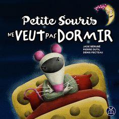 Livre pour enfants qui ne veut pas dormir. Petite Souris ne veut pas dormir est le premier livre d'une série. Le suivant étant Petit Pingouin a peur du four.  Cette histoire est lu par l'équipe Apple : https://www.apple.com/ca/today/event/kids-hour-bookclub-petite-souris-ne-veut-pas-dormir-6369582553808369389/