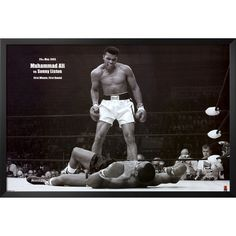 Pyramid America Muhammad Ali vs Sonny Liston First Round KO Boxing Sports Sports Cool Wall Decor Art Print Poster Mohamed Ali, Frames On Wall, Framed Wall Art, Canvas Wall Art, Framed Art Prints, Wall Art Prints, Poster Prints, Muhammad Ali Wallpaper, Boxing Posters
