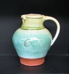 Delighted to find this Van der Putten jug in an opshop the other day :D Earthenware, Pottery Art, Kiwi, Castle, Van, Ceramics, Beautiful, Hall Pottery, Clay Pots