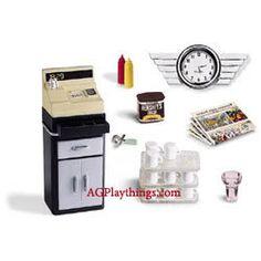 Dollhouse Miniature ICE CREAM SCOOP American Girl AG Mini/'s LIL/'S DINER Illuma