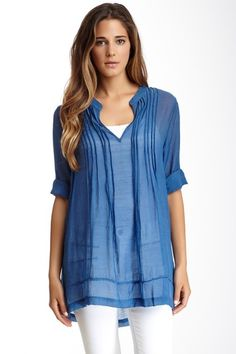 Sheer Pintucked Tunic on HauteLook