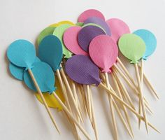 Balloon toothpicks for the food table