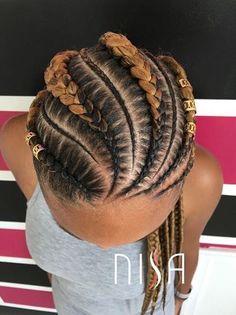 Two Tone Ghana Braids Cornrows Ghana Braids Hairstyles, Hairstyles With Bangs, Braided Hairstyles, Short Haircuts, Braids Cornrows, Hairstyles 2016, Sisterlocks, Hairstyle Braid, Kids Hairstyle