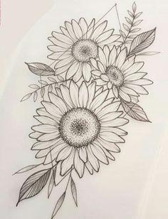Sunflower Tattoos, Sunflower Tattoo Design, Sunflower Pics, Arm Tattoos For Women Upper, Hip Tattoos Women, Spine Tattoos, Tribal Tattoos, Sleeve Tattoos, Dream Tattoos