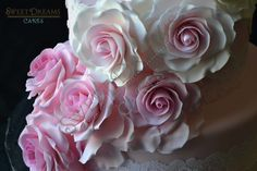 Ombre Wedding Roses Cake.