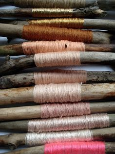 ❥ spools of silk... my clothing colors love