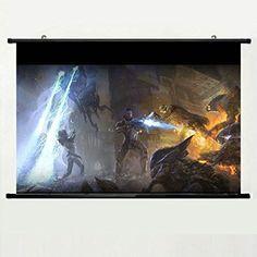Kakemono aus Stoff Poster Stab oben und unten Ohne Mass Effect Shepard Monsters Fire Battle with 24 X 16 Inch (60cm X 40cm)