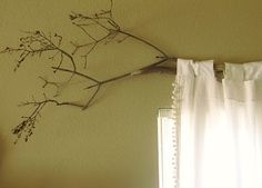 branch curtain rod - Google Search