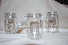Misc glass flip top jar 12 oz